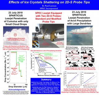 Effects of ice crystals shattering on 2D-S probe tips