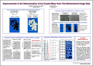 Improvements in the determination of ice crystal mass from two-dimensional image data